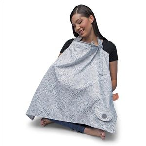 Boppy Boho nursing cover gray